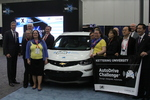 Kettering Team posing at SAE World Congress AutoDrive Announcement by Patrick Hayes